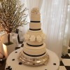 navy and white roses avalanche wedding Cakes Sussex